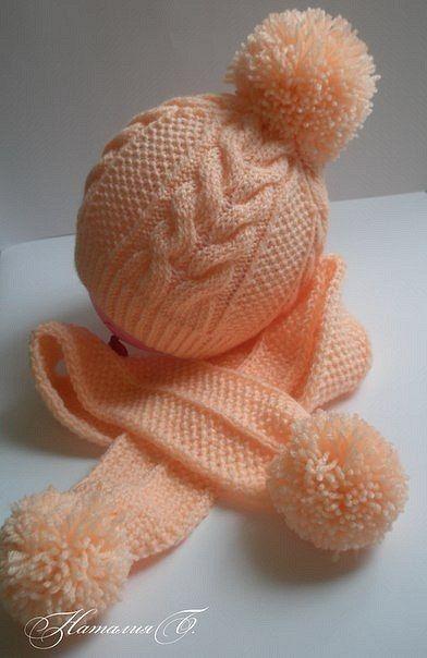 sombrero del bebé de punto tejido de punto #babyponcho