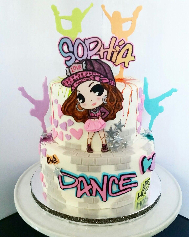 Love hip hop dance cake 927CakeCo. in 2019 Dance