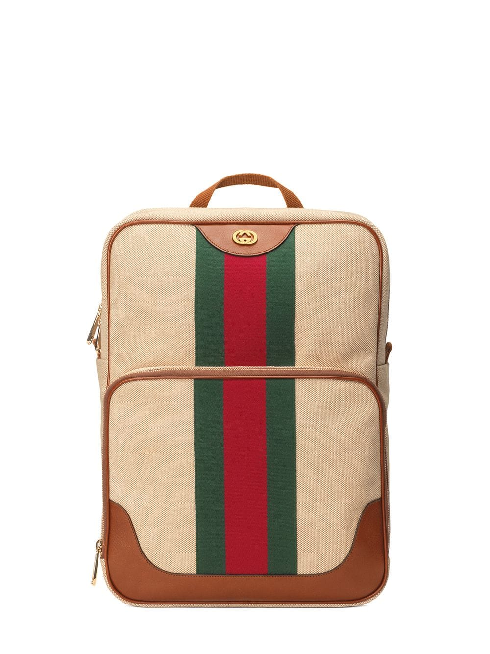 783f790f0 GUCCI GUCCI VINTAGE CANVAS BACKPACK - BRAUN. #gucci #bags #leather #lining