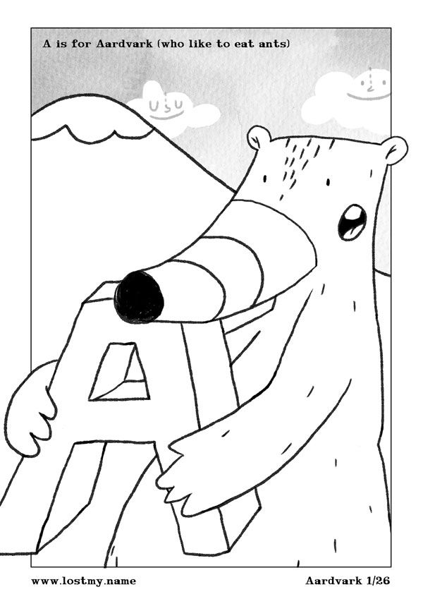 Free A Z Printable Colouring Book From Lostmy Name