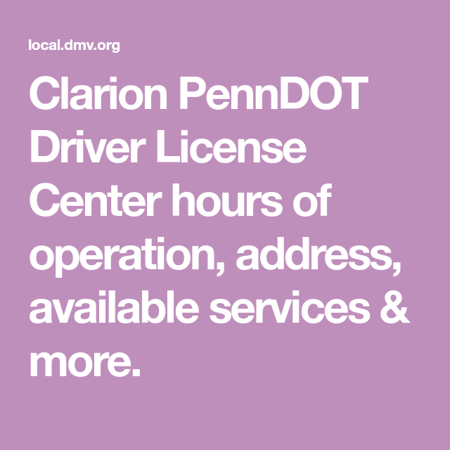 penndot drivers license photo center hours