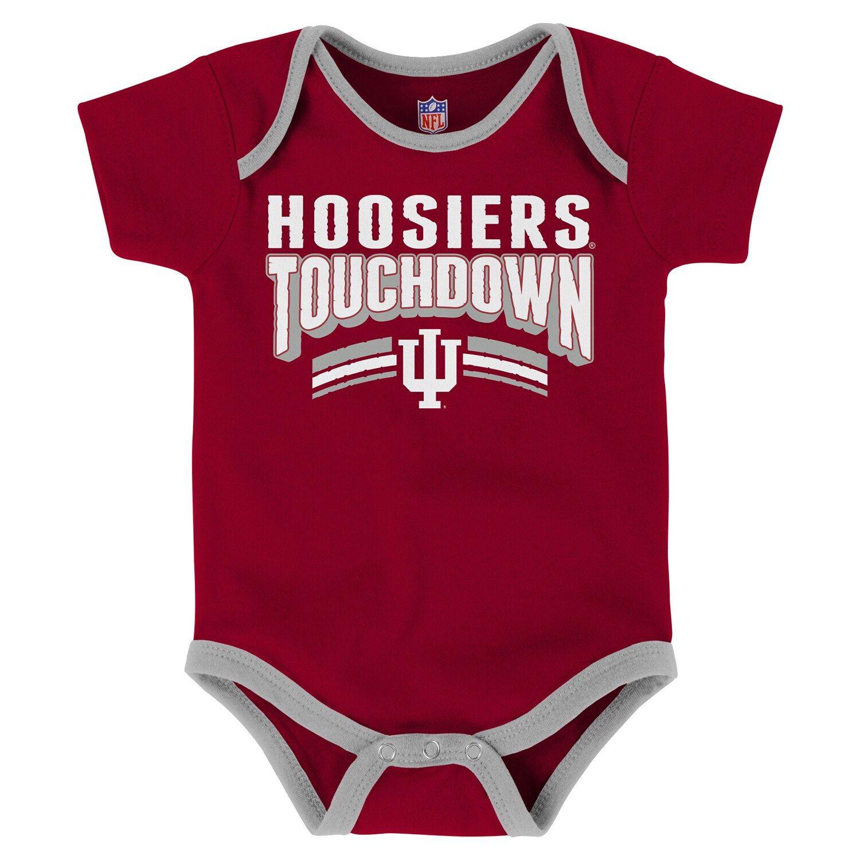 Baby Indiana Hoosiers Playmaker 3Pack Bodysuit Set in