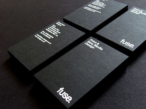 fuse business card - love the simplicity and matte on gloss