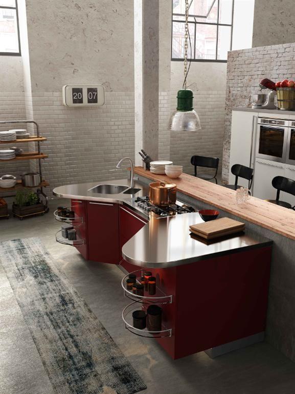 Cucina laccata con maniglie SKYLINE 2.0   Cucina con isola ...