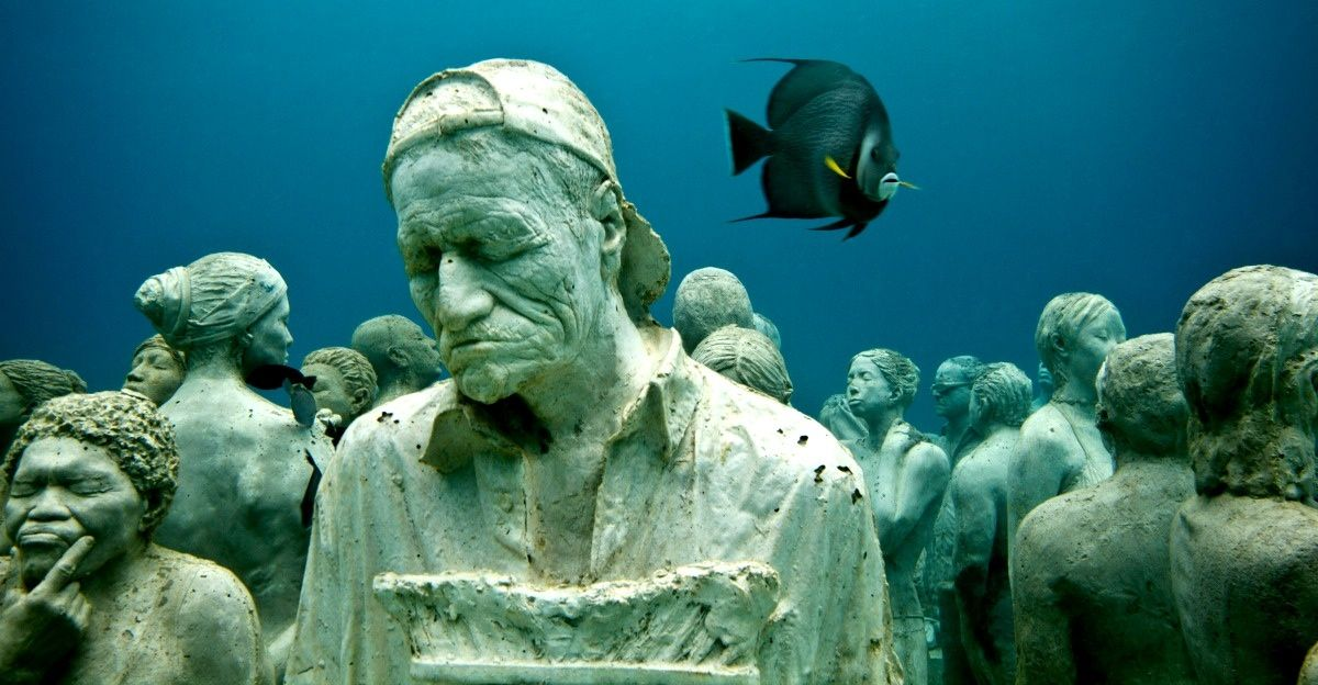 Creepy Yes Beautiful Too These Underwater Statues May Help - Europes first ever underwater museum is full of hyperrealistic human sculptures