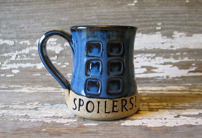 Spoilers Pottery Mug River's Journal Handmade mug