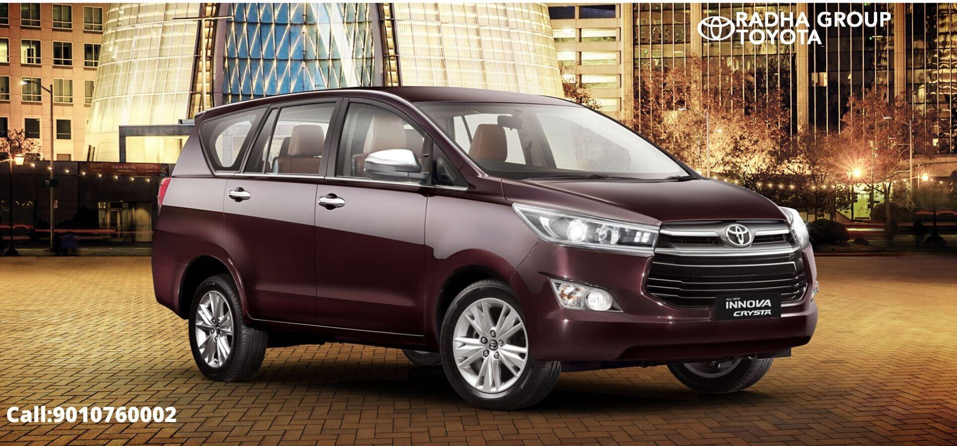 Toyota Innova Crysta Price In Hyderabad Vijayawada Features Mileage Colors Images In 2020 Toyota Innova Toyota