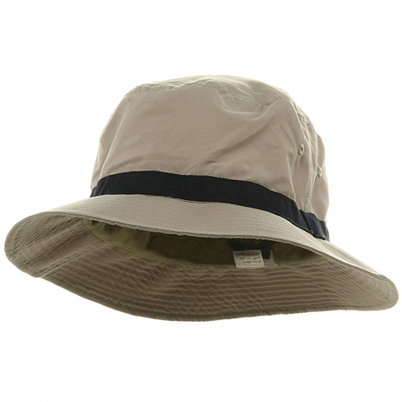 8c396de66eb Oversized Water Repellent Brushed Golf Hat - Khaki Navy (For Big Head) -  C3113HAT8Z9 - Hats   Caps