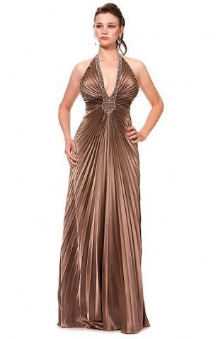 vestido plissado longo - Pesquisa Google