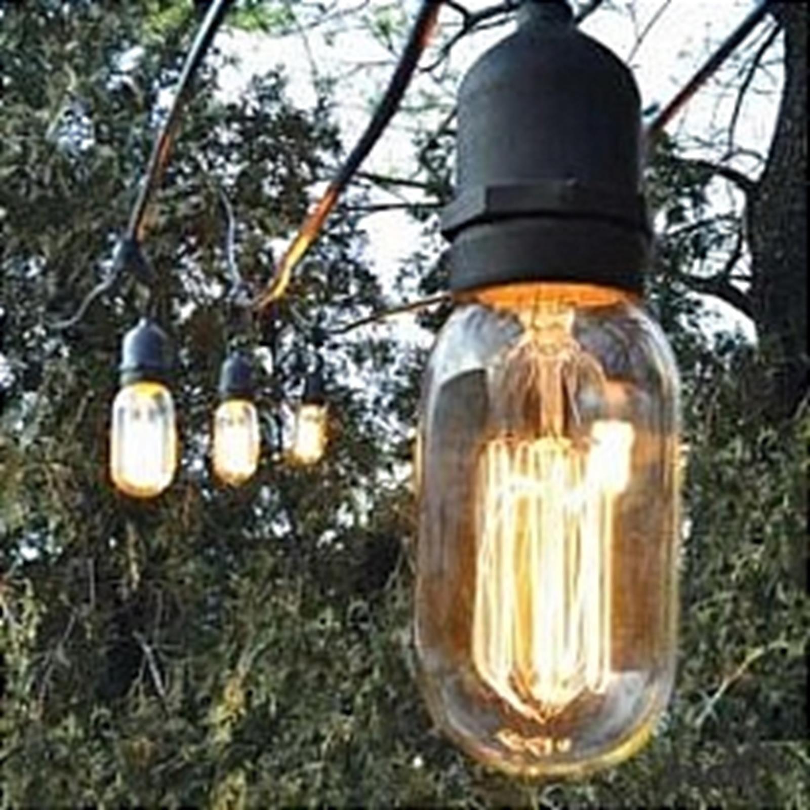 Edison Bulb Outdoor String Lights Bulbrite string15e26 a19kt outdoor string light wvintage edison bulbrite string15e26 a19kt outdoor string light wvintage edison bulbs 48 workwithnaturefo