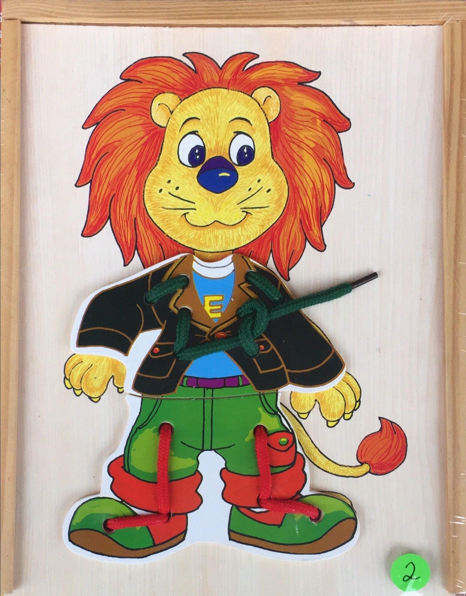 schleifen binden lernen  löwe  brettspiele für kinder