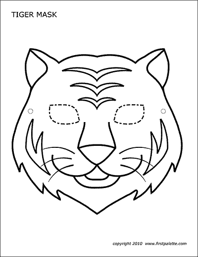Tiger Mask Free Printable Templates Coloring Pages Firstpalette Com Tiger Mask Template Animal Mask Templates Animal Masks For Kids