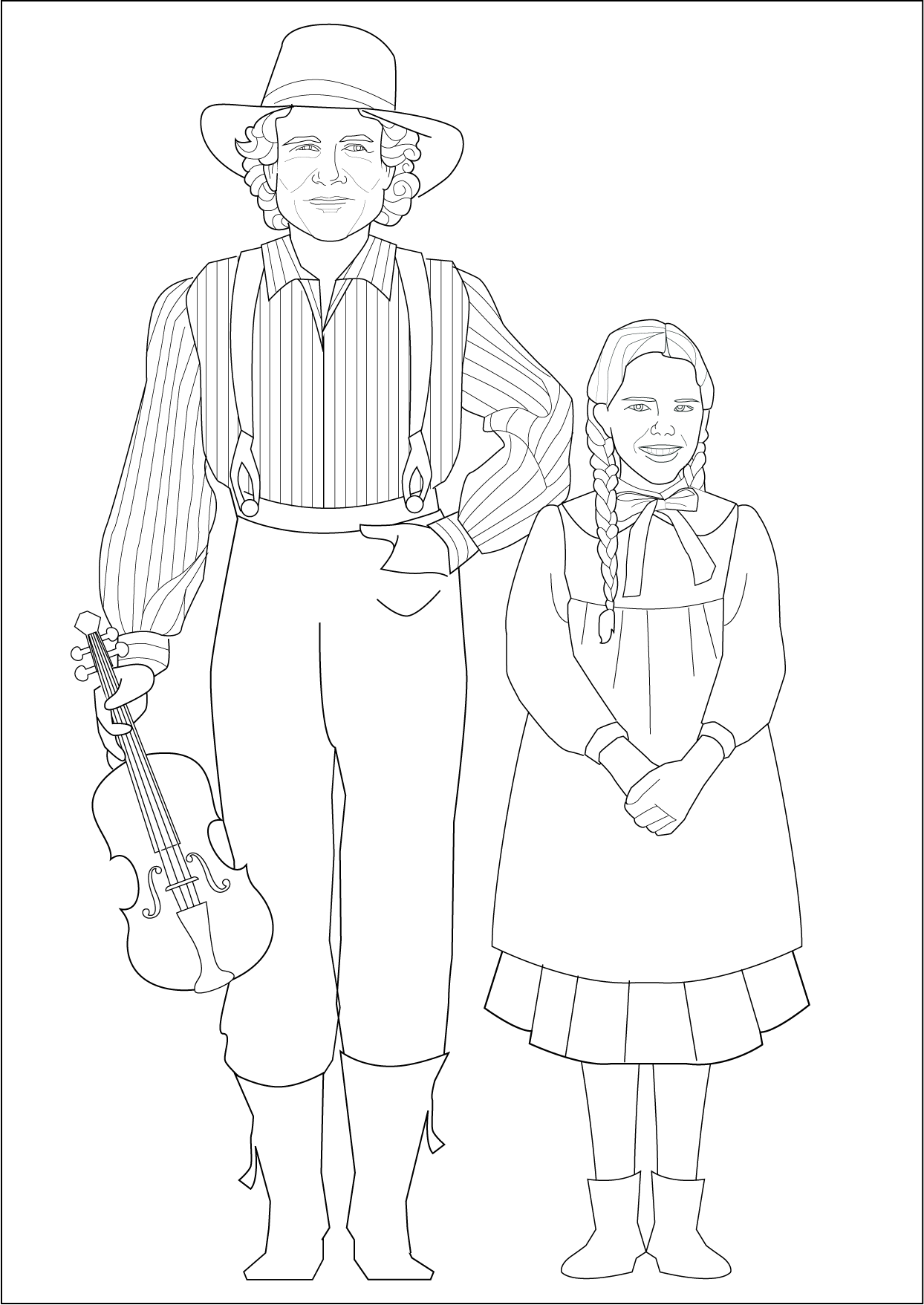 Charles Ingalls Laura Ingalls Coloring Page Little House On The Prairie Coloring Pages Christmas Coloring Pages Laura Ingalls