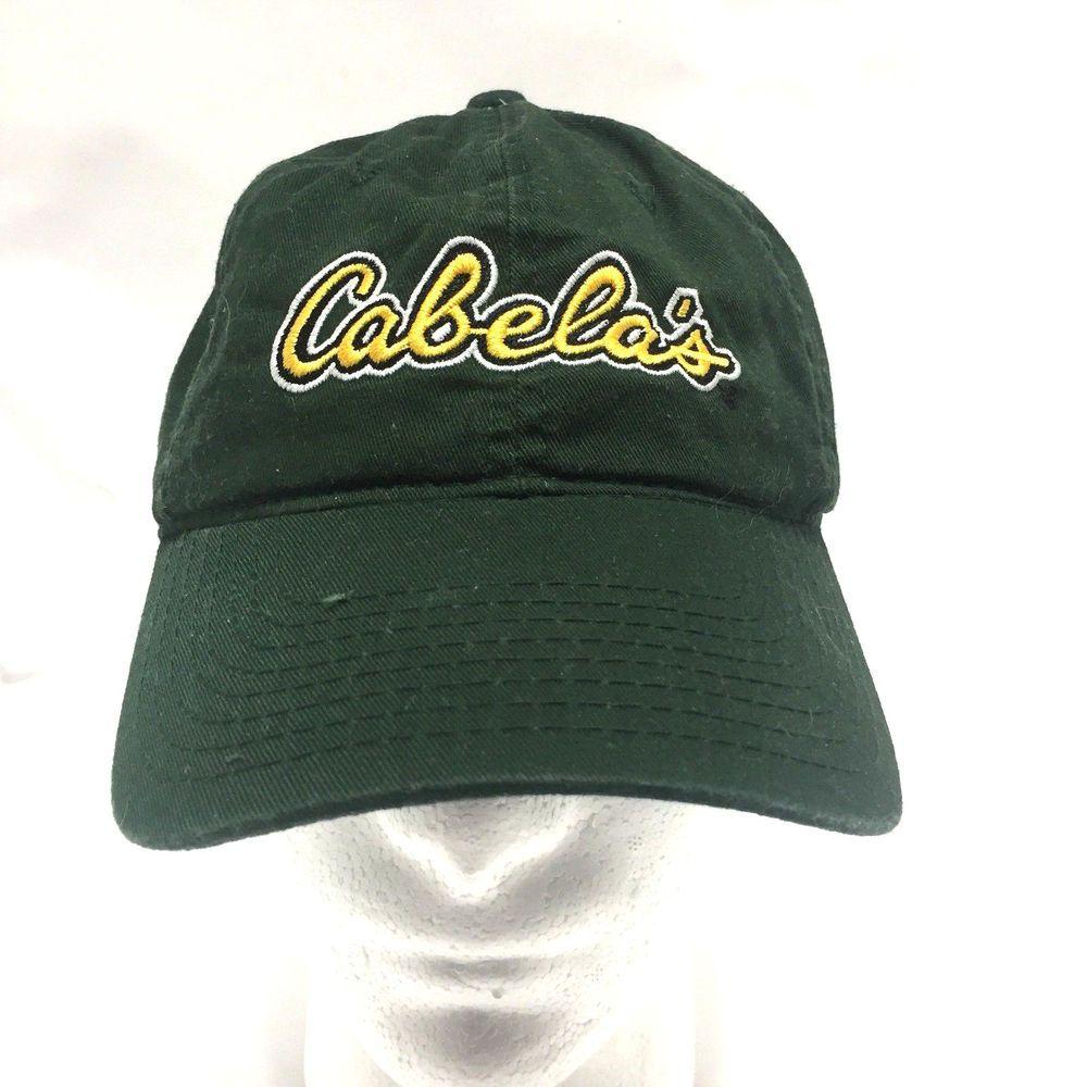 Cabelas Baseball Hat Worlds Foremost Outfitter Green Cap Slideback  Cabelas   BaseballCap fd3d83cb20a