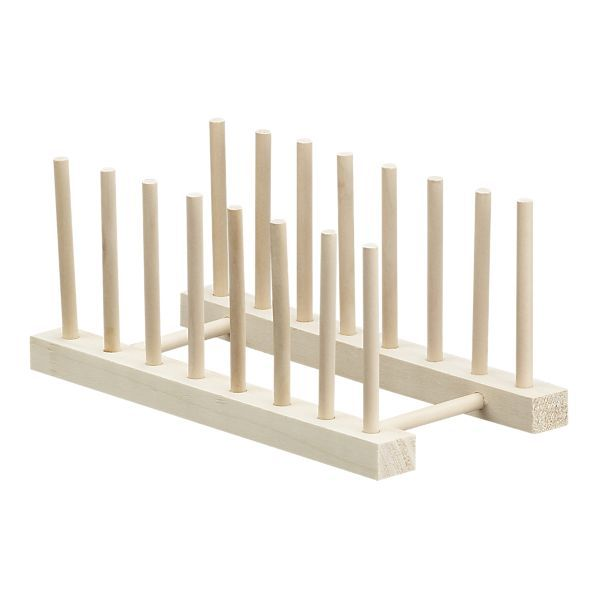 """10"""" Wooden Plate Rack, or double as a cutting board organizer"""