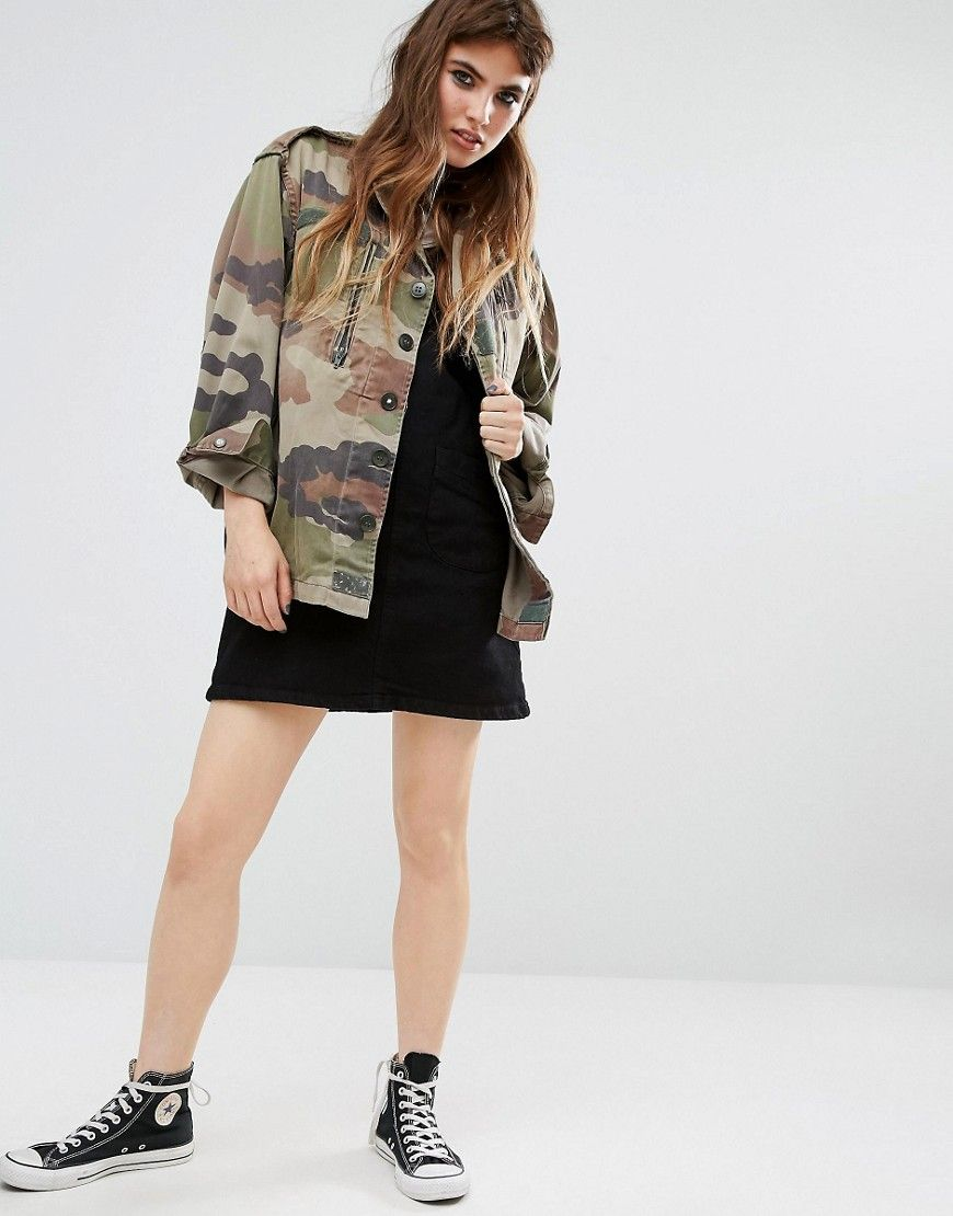 ab9704858f94f Reclaimed Vintage Military Jacket In Camo Print | S.T.Y.L.E. ...