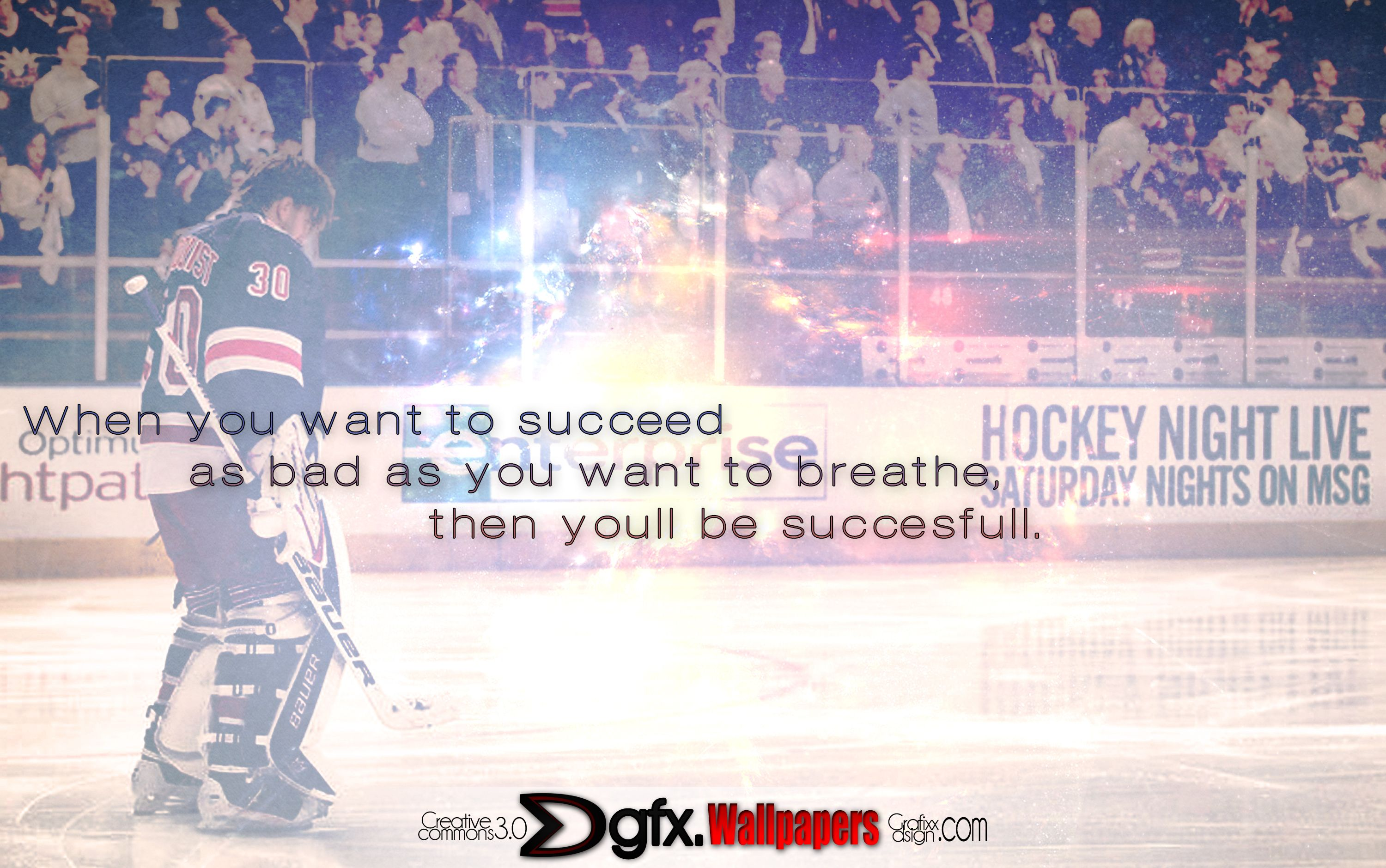hockey, lundqvist and inspiring quote. i'd say we have a