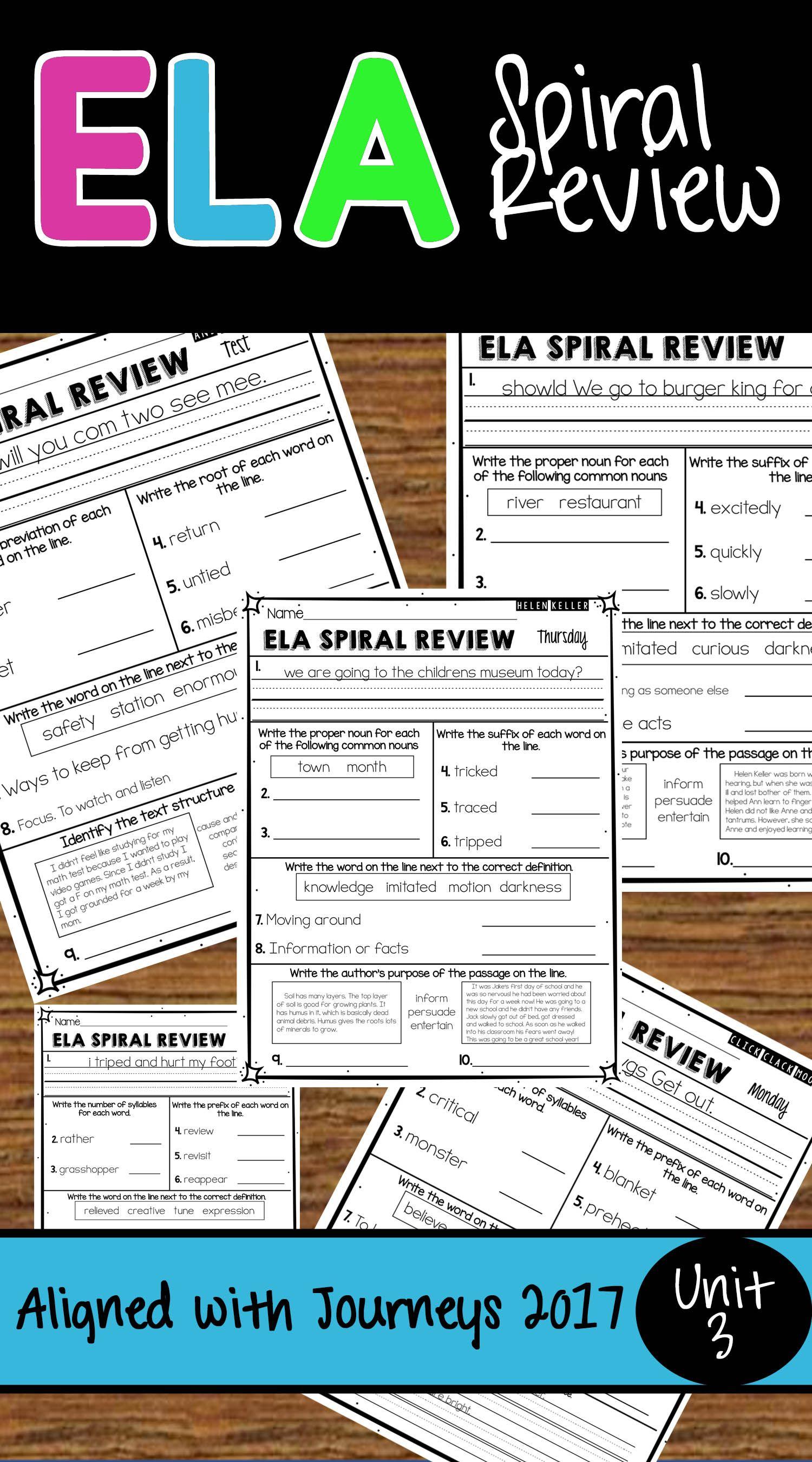 Unit 3 Ela Spiral Review