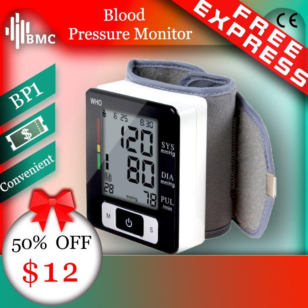 Bmc Handgelenk Digitale Blutdruck Monitor Automatische Blutdruckmessgerat Smart Medizinische Maschine Messen Puls Rate Fitness Messung Blutdruck Medizin Und Gut Leben