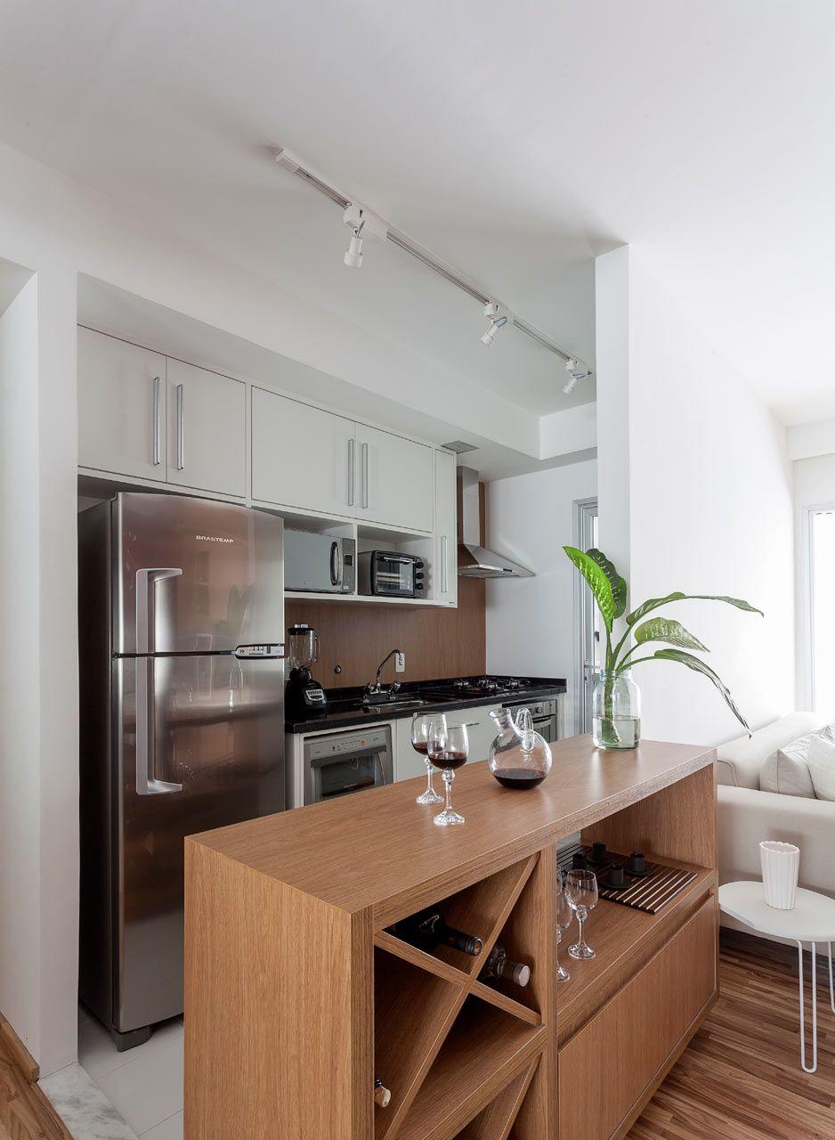 Apartamento Michigan By Tria Arquitetura Cozinha Na Sala De
