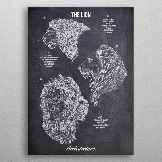 THE LION by FARKI15 DESIGN | metal posters - Displate | Displate thumbnail