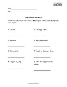 Sentence diagramming subject and verb 8th grade ela pinterest sentence diagramming subject and verb ccuart Choice Image