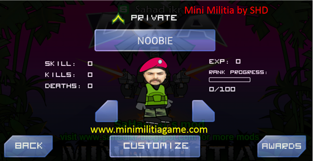 Download free mod apk for Mini Militia by SHD
