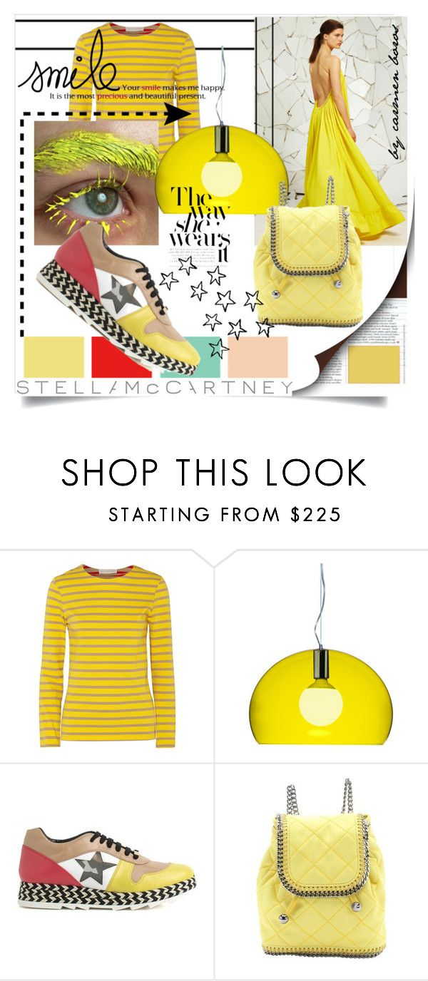 """yellow with Stella McCartney"" by boroscarmen ❤ liked on Polyvore featuring STELLA McCARTNEY, Kartell, women's clothing, women, female, woman, misses and juniors"