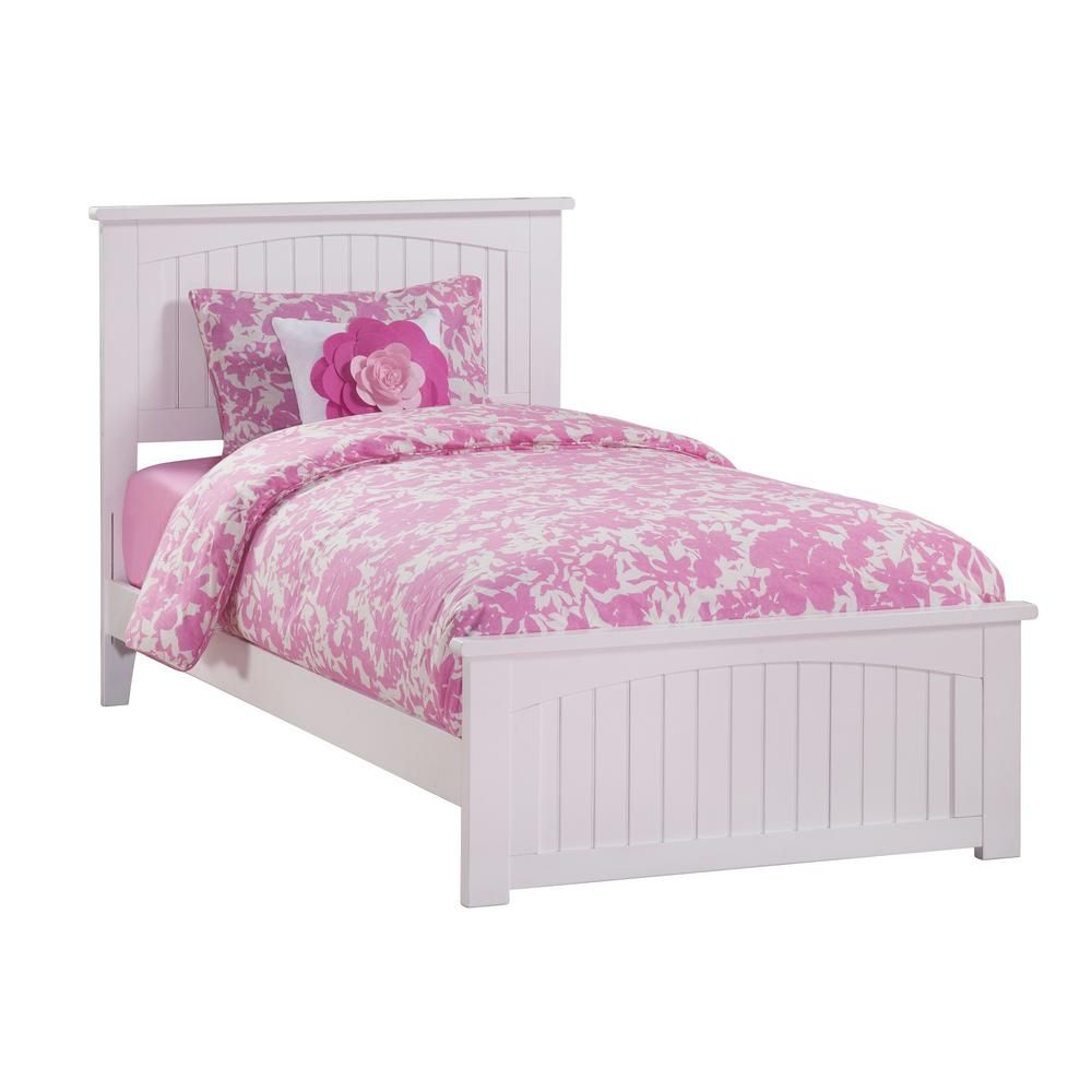 Atlantic Furniture Nantucket White Twin Traditional Bed With Matching Foot Board Atlantic Furniture Furniture Bed Furniture