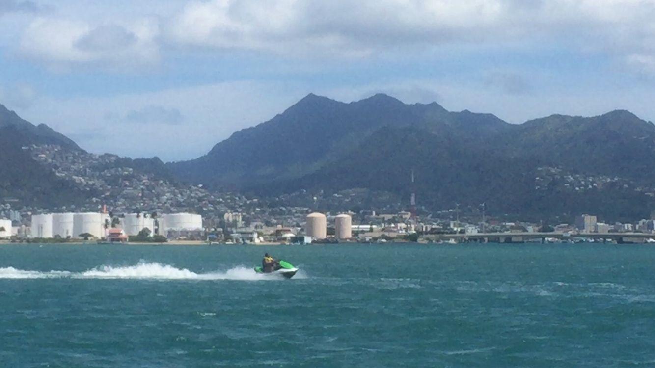 Jet skiing vacation san francisco skyline outdoor