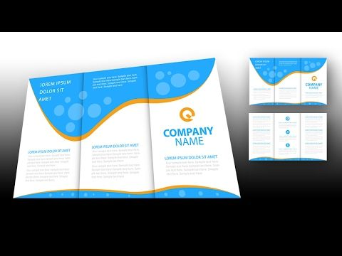 illustrator tutorial - brochure design template - youtube | design, Powerpoint templates