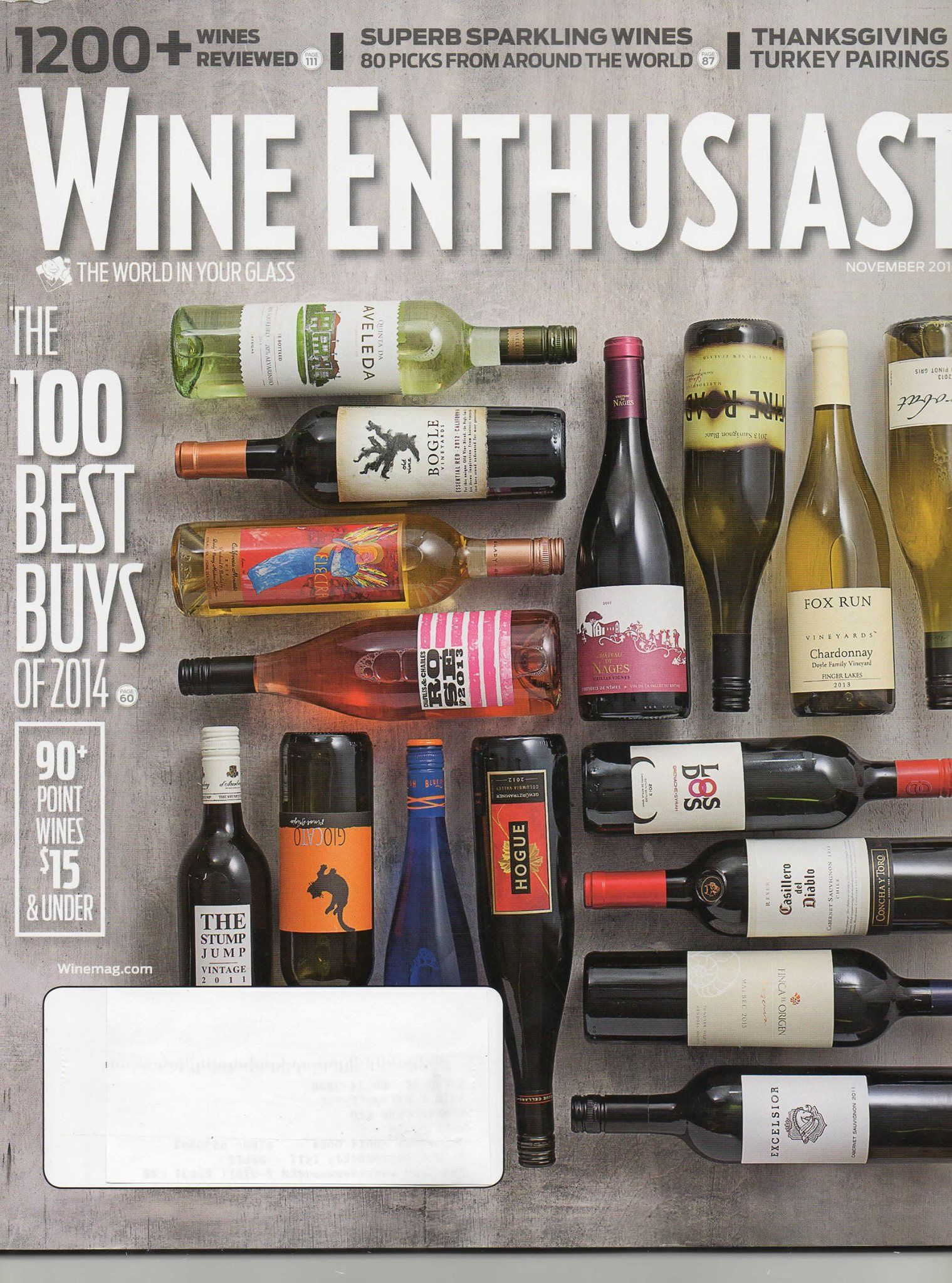 Fire Road Sauvignon Blanc featured on the cover of Wine
