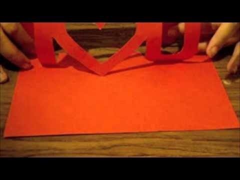 How To Make An Origami I U Card