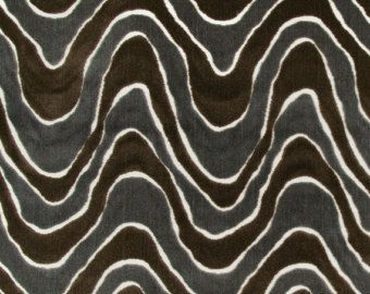 Charcoal Grey Cut Velvet Upholstery Fabric For Furniture