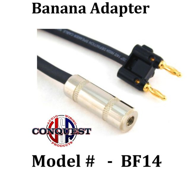 Conquest Sound Banana Adapter Model 12 2 Wire 1 4 Female Double Banana Plug Conquestsoundusa Sound Adapter Plugs