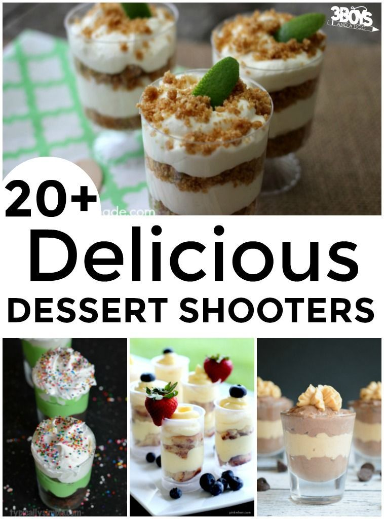Mini Shooter Dessert Recipes #dessertshooters Have you had any mini dessert shooters yet? They are so, so cute! Basically, shooter desserts are tiny versions of classic desserts that are served in tall shot glasses. They're adorable and yummy and, if you're watching your weight, they're a great way to get a little something sweet without going overboard. #dessertshooters