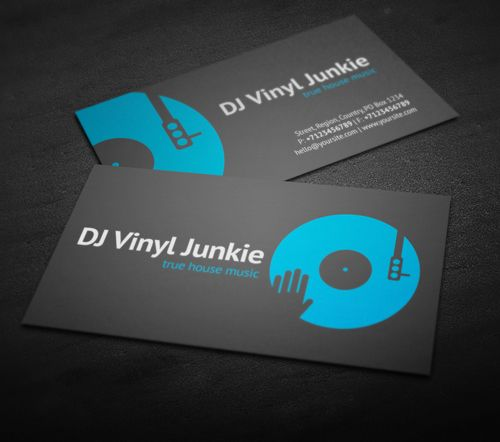 Vinyl DJ Business Card #businesscards #music #psdtemplates - membership card template word