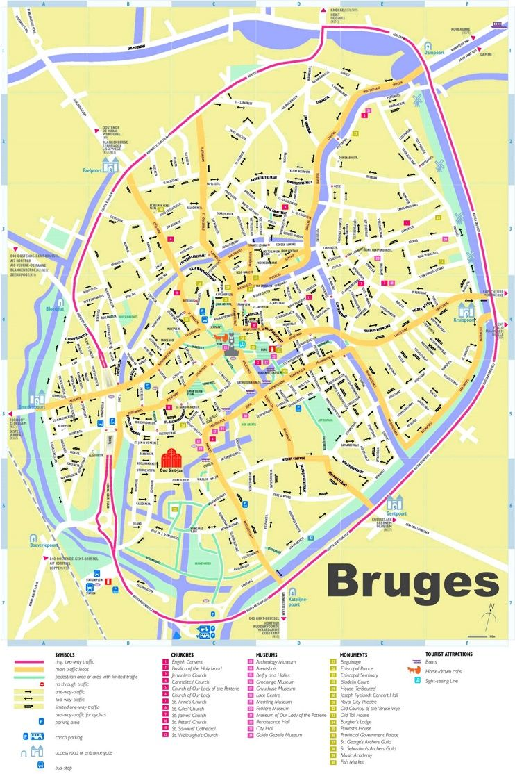 Bruges tourist map Maps Pinterest Tourist map Bruges and Belgium