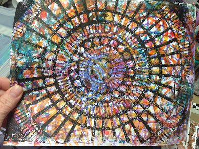 stained glass window look  http://inkyobsessions.blogspot.com