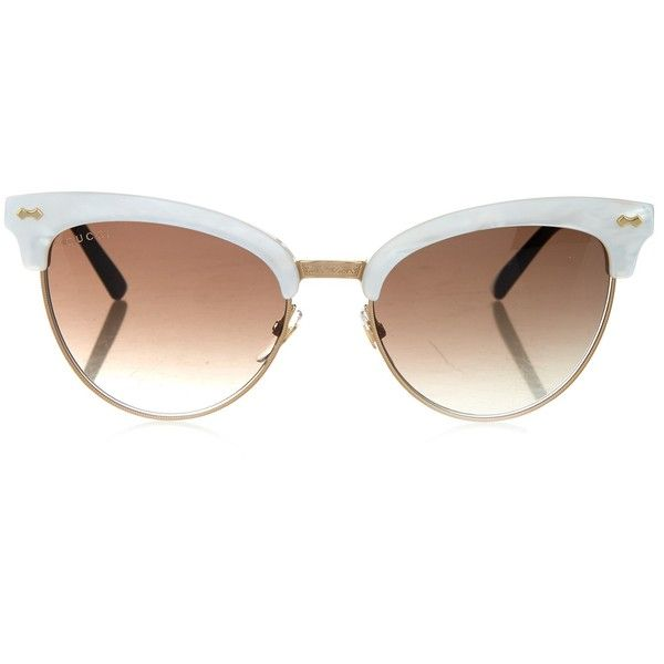 d6b41b81de8 Gucci Cat-eye half-frame sunglasses ( 363) ❤ liked on Polyvore featuring  accessories