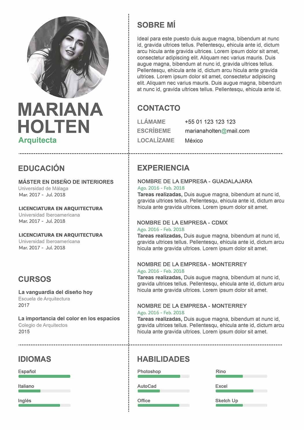 30 Plantillas De Curriculum Para Rellenar Word Y Photoshop Curriculum Vitae Curriculum Lorem Ipsum