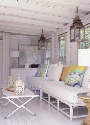 White & Rustic Living Room by vera