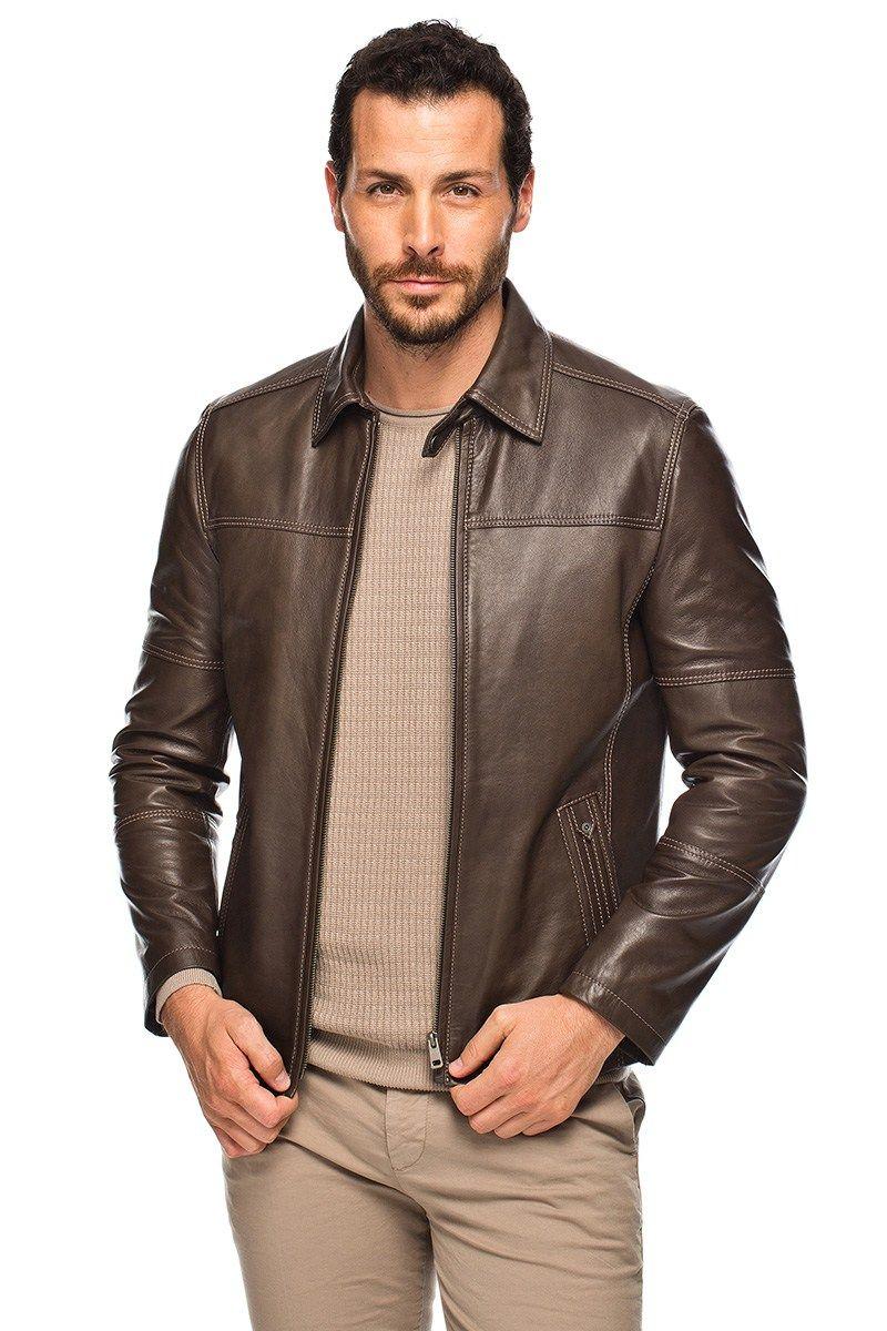 14276ac43bfb4 Derimod Erkek Deri Ceket Modelleri | Deri ceketler | Jackets ...