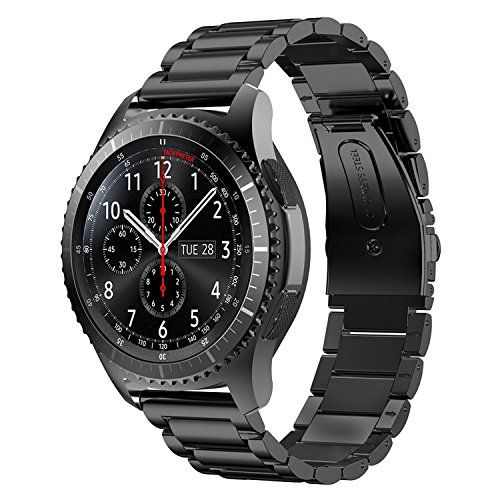Gear S3 Frontier Band XLLarge Oitom Premium Solid Stainless Steel Watch Bands Link Brace