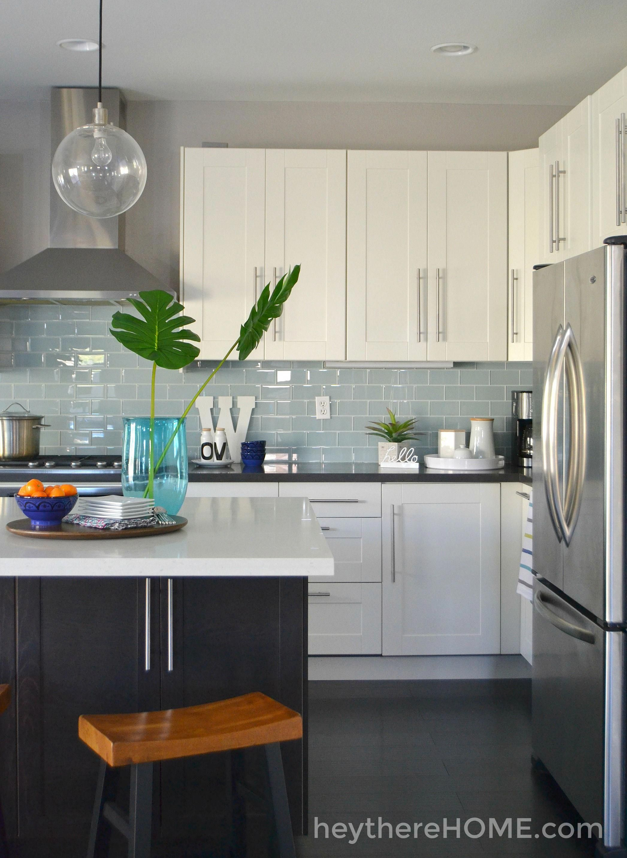 Kitchen Remodel Before and After....LOVE the colors and