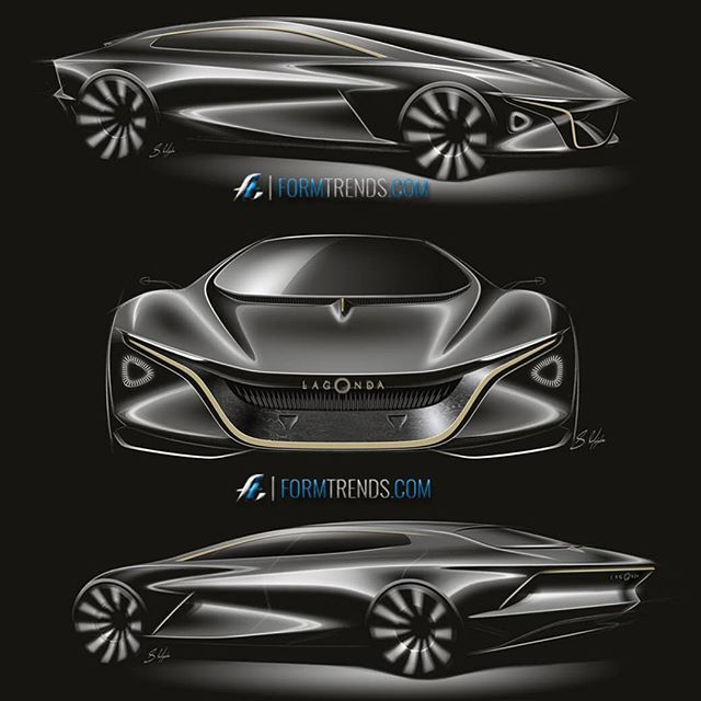 Aston Martin Sketch: Futuristic Cars, Car Design Sketch