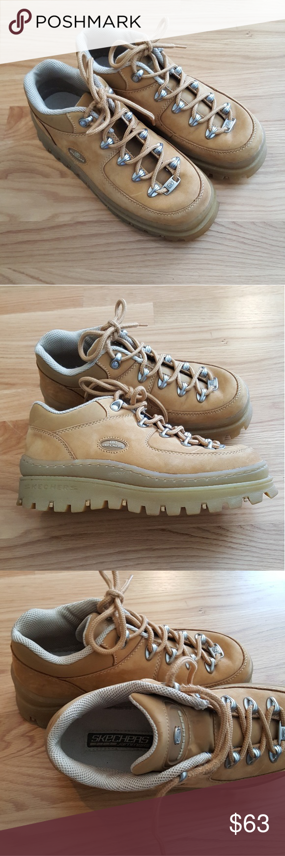 Skechers Jammers Size 8 5 Skechers Tan Suede Suede Lace