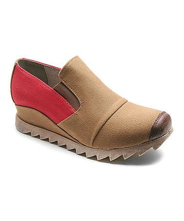 2501231e86b This Tan   Red Too Roadie Slip-On Shoe is perfect!  zulilyfinds