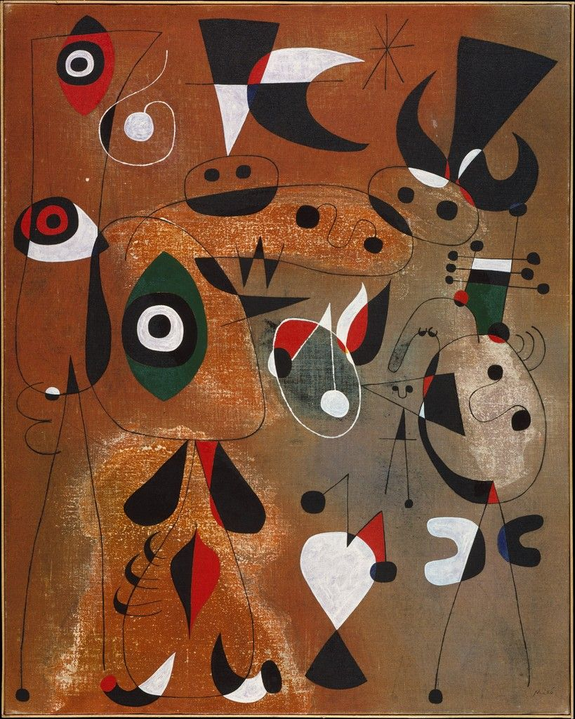 Women, Birds and a Star - Joan Miró
