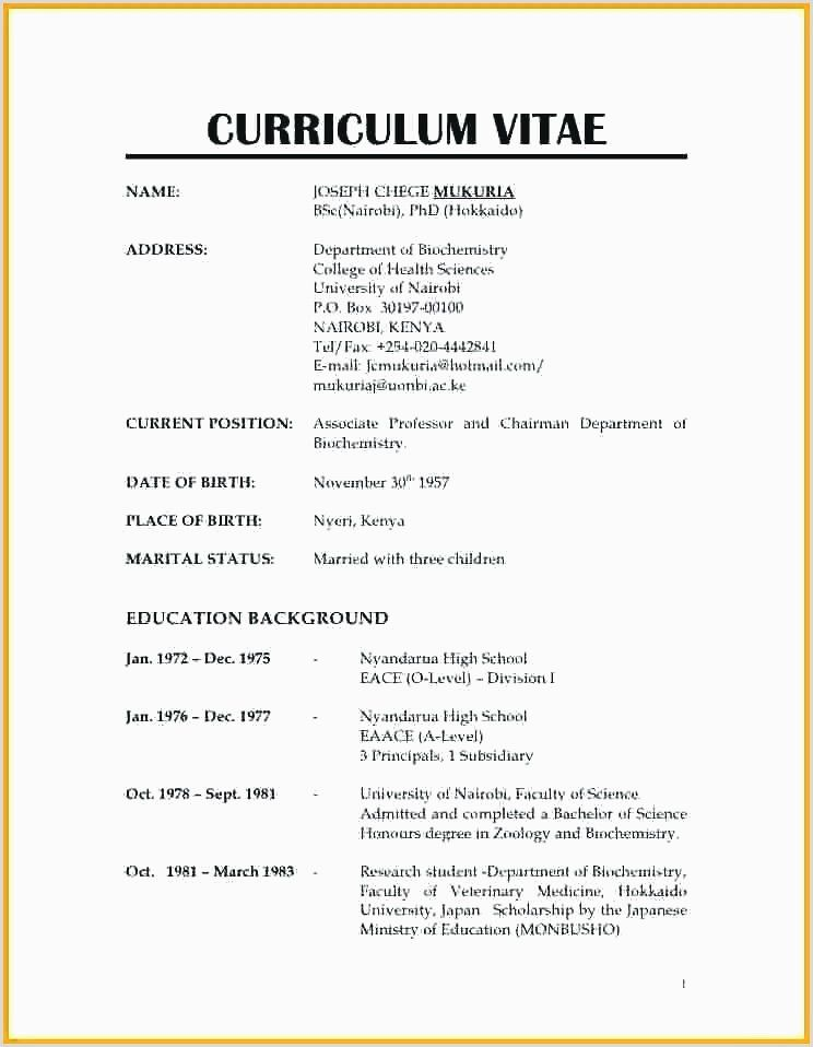 Normal Resume Format For Job Huroncountychamber Com